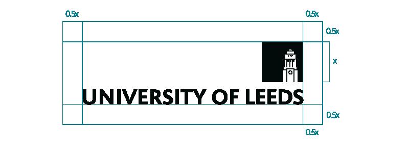 Logo minimum clear space details